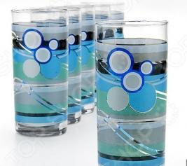 Набор стаканов «Яркое настроение». Цвет: серо-голубой