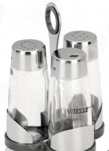 Солонка и перечница с держателем для зубочисток Vitesse Classiс VS-8607