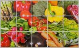 Стикер защитный на кафель Marmiton «Овощи» 17102