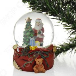 Снежный шар декоративный Crystal Deco «Санта с подарками»