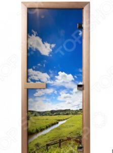 Дверь для бани с фотопечатью Банные штучки «Родные просторы» 32686