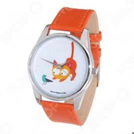 Часы наручные Mitya Veselkov «Кошка и птичка»
