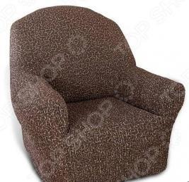 Натяжной чехол на кресло Еврочехол «Плиссе. Мускат»