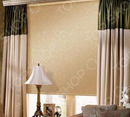 Рулонная штора Эскар «Арабеска». Цвет: капучино