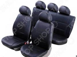 Набор чехлов для сидений Senator Atlant Lada 2191 Granta 2013 5 подголовников слитный задний ряд