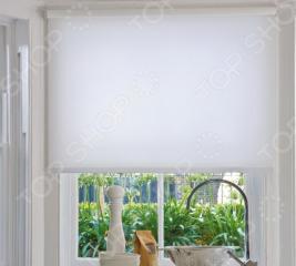 Рулонная штора Эскар однотонная. Цвет: белый