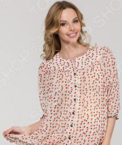 Блузка для беременных Nuova Vita 1336.02. Цвет: красный