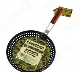 Жаровня для морепродуктов и овощей с антипригарным покрытием BOYSCOUT со складной ручкой