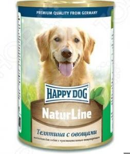 Корм консервированный для собак Happy Dog NaturLine с телятиной и овощами
