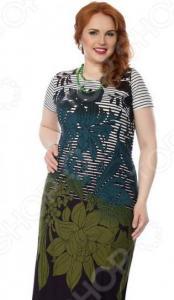 Платье Wisell «Соловьиные песни». Цвет: синий, зеленый