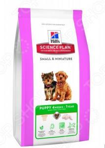 Корм сухой для щенков миниатюрных пород Hill's Science Plan Puppy с курицей и индейкой