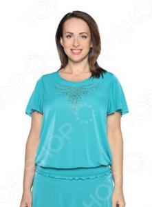 Блуза «Ослепительная». Цвет: бирюзовый