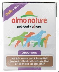 Корм консервированный для собак Almo Nature Daily Menu Adult with Chicken and Beef