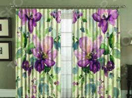 Комплект фотоштор «Фиолетовая акварель»