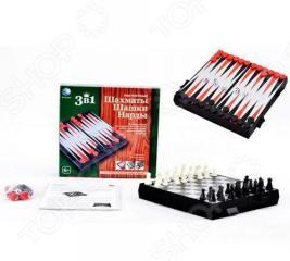 Игра настольная 3 в 1 Shantou Gepai «Шахматы, шашки, нарды»