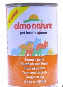 Корм консервированный для кошек Almo Nature Classic Tuna and Chicken