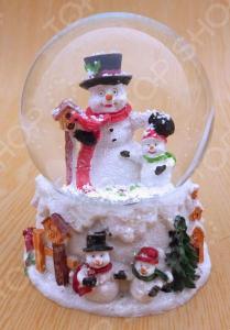 Снежный шар декоративный Crystal Deco «Снеговики»