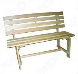 Скамейка для бани и сауны Банные штучки со спинкой