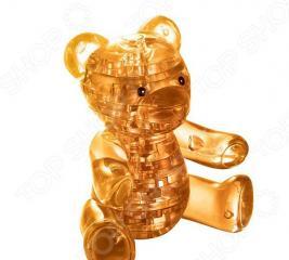 Кристальный пазл 3D Crystal Puzzle «Мишка янтарный»