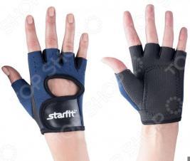 Перчатки для фитнеса Star Fit SU-107. Цвет: темно-синий, черный