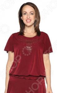 Блуза «Ослепительная». Цвет: бордовый
