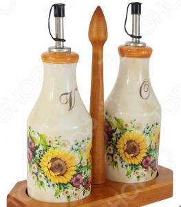 Набор емкостей для масла и уксуса LCS «Подсолнухи Италии»