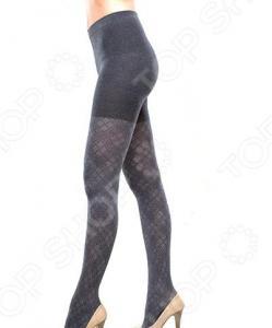 Колготки ажурные Burlesco R52123. Цвет: темно-серый