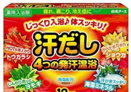 Соль для ванны Hakugen Eartn Asedashi с экстрактами перца, имбиря, моркови, морских водорослей