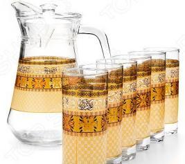 Набор: кувшин и 6 стаканов Loraine LR-24066