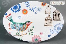 Блюдо овальное Коралл «Синяя птица»