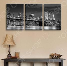 Картина 3-модульная ТамиТекс «Бруклинский мост»