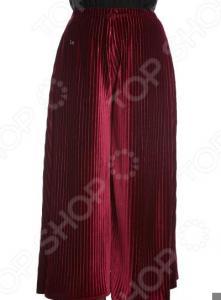 Юбка-брюки Pretty Woman «Бархатный выход». Цвет: бордовый