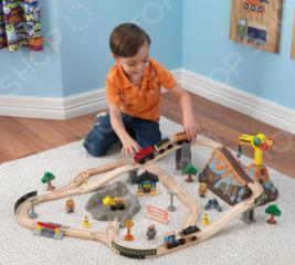 Набор железной дороги игрушечный KidKraft «Горная стройка»