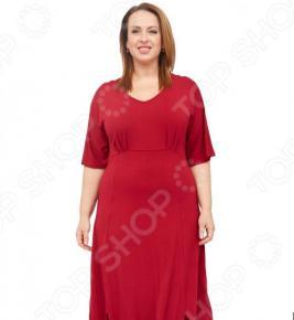 Платье Laura Amatti «Нежная радость». Цвет: бордовый