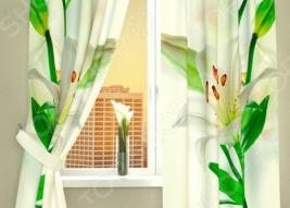 Фотошторы Сирень «Белая лилия»