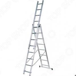 Лестница трехсекционная со стабилизатором Зубр 38831