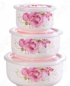 Набор керамических контейнеров «Райская роза»