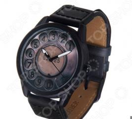Часы наручные Mitya Veselkov «Телефонный диск» MVBlack