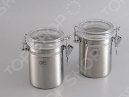 Набор из 2 банок для герметичного хранения сыпучих продуктов Gipfel 5583