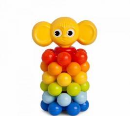 Игрушка-пирамидка Росигрушка «Ушастик с шариками»