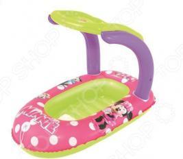 Лодка надувная детская с тентом Bestway Disney Minnie
