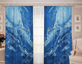 Комплект штор ТамиТекс «Белый Муар 08»