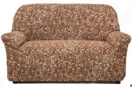 Натяжной чехол на двухместный диван Еврочехол «Виста. Инка»