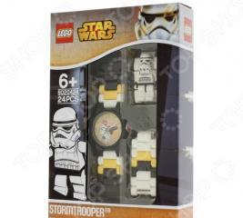 Часы наручные детские LEGO с минифигурой Stormtrooper на ремешке