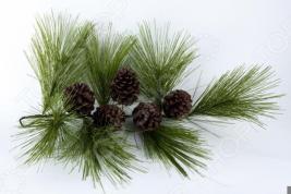 Новогоднее украшение Crystal Trees «Ветвь Кедра итальянского с шишками»