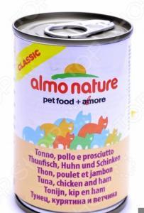 Корм консервированный для кошек Almo Nature Classic Tuna Chicken Ham
