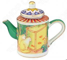 Чайник сувенирный Elan Gallery «Кошки у аквариума»