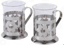 Набор стаканов Rosenberg «Ностальгия». Рисунок: цветы
