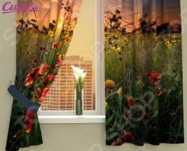 Фотошторы Сирень «Поляна в вечерних красках»