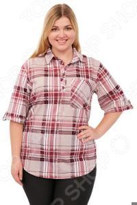 Рубашка Алтекс «Клементина». Цвет: бордовый